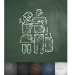 Happy buyers icon Hand drawn vector