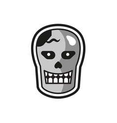 head halloween logo icon design vector image
