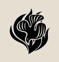 Holyspirit silhouette logo vector