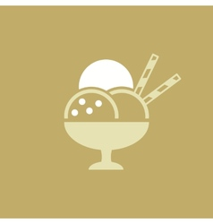 Icecream Flat Icon vector