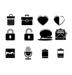Icons black and white online store icon vector