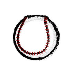 Isolated baseball ball icon vector