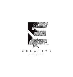 Letter e logo design icon with artistic grunge vector