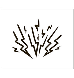 lightning simple sketch on white vector image