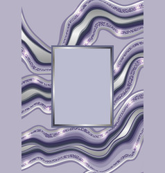 luxury blue and silver marbling template vector image