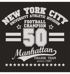 Manhattan t-shirt graphics vector image