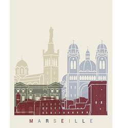 Marseilleskyline poster vector image