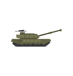 military armored tank army machine heavy vector image