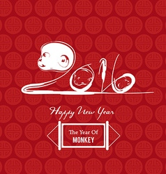 Monkey design for Chinese New Year celebration vector