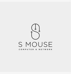 Mouse typelogo text logo template icon element vector