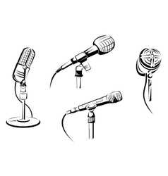 Music microphones vector image