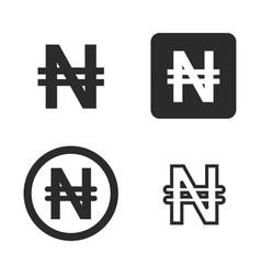 naira currency symbol set vector image