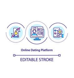 Online dating platform concept icon vector