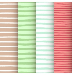 Patterns set with painted stripes vector