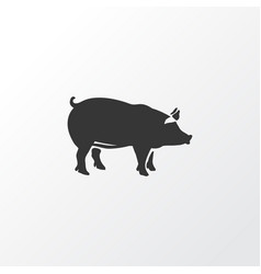 pig icon symbol premium quality isolated pork vector image