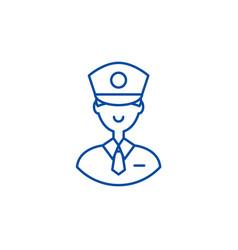 policeman line icon concept policeman flat vector image