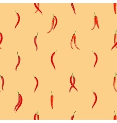 Red hot chili peppers pattern vector
