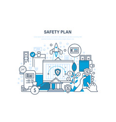 Safety plan safe storage of financial savings vector