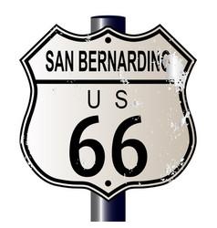 San bernardino route 66 highway sign vector