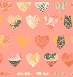 seamless abstract background with colorful heart vector image