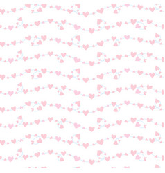 seamless pattern with a garlands of hearts vector image