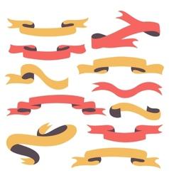 Set of vintage ribbons vector image