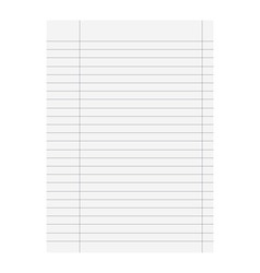 sheet icon of school vector image