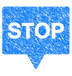 stop banner grunge icon vector image