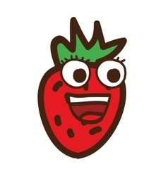 strawberry character isolated icon design vector image