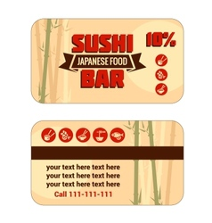 susi discount card template vector image