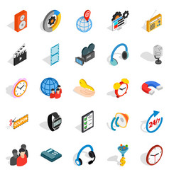 technical detail icons set isometric style vector image