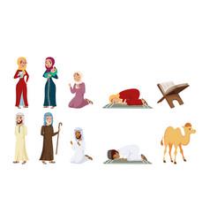 Ten muslim culture icons vector