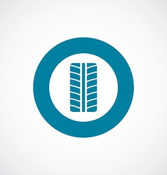 Tire icon bold blue circle border vector