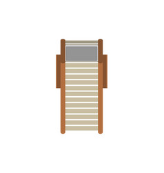 Top view beach lounger isolated icon vector
