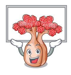 up board bottle tree in rose shape cartoon vector image