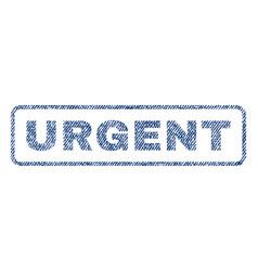 Urgent textile stamp vector
