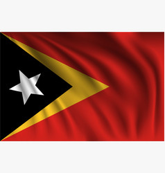 Waving east timor vector