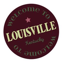 Welcome to louisville kentucky vector