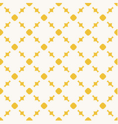 yellow geometric seamless pattern with circles vector image