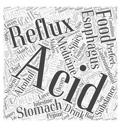 Acid reflux medicine word cloud concept vector