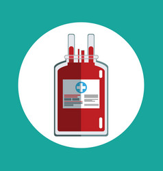 blood bag donation concept vector image vector image