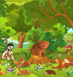 merry forest vector image