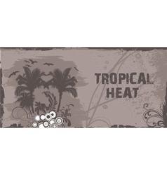 summer grunge floral background vector image vector image