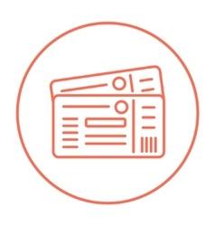Tickets line icon vector