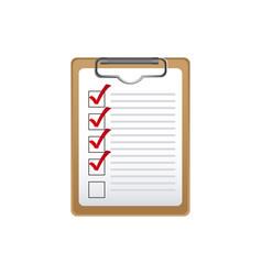 clipboard check the job icon vector image