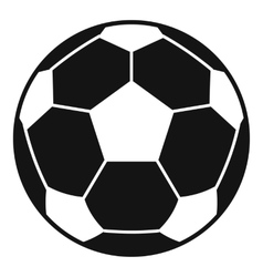 Football soccer ball icon simple style vector image vector image
