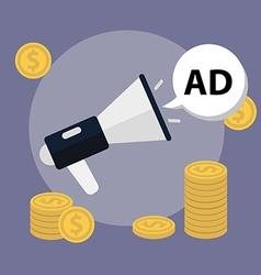 Marketing concept Loudspeaker flat icon vector image
