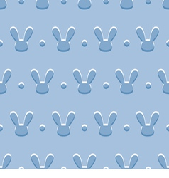 seamless blue background with rabbits vector image vector image