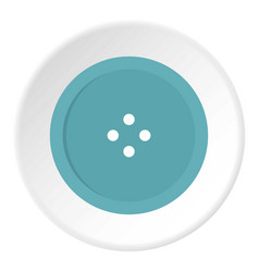 Light blue sewing button icon circle vector