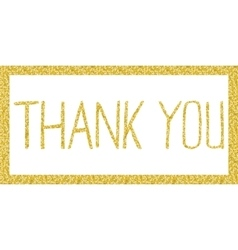 Thank you lettering in Gold vector image vector image